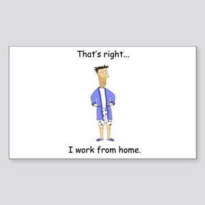 I Work From Home Rectangle Sticker